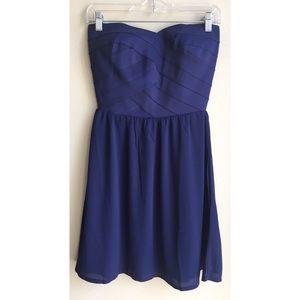 NWT H&M Blue Bandage Formal Prom Dress Size 8